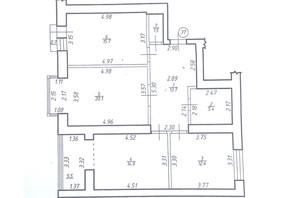 ЖК Левада Затишна: планування 3-кімнатної квартири 89.9 м²