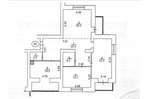 ЖК Levanevsky: планировка 3-комнатной квартиры 109.4 м²