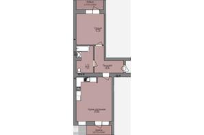 ЖК Левобережный: планировка 2-комнатной квартиры 60.18 м²