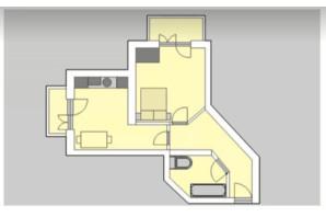 ЖК Liberty: планировка 1-комнатной квартиры 45.01 м²