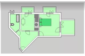 ЖК Liberty: планировка 1-комнатной квартиры 68.87 м²