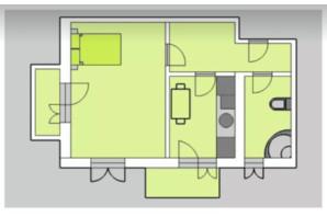 ЖК Liberty: планировка 1-комнатной квартиры 53.29 м²