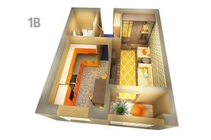 ЖК Life: планування 1-кімнатної квартири 39.65 м²