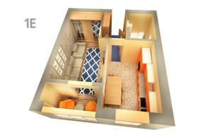 ЖК Life: планування 1-кімнатної квартири 39.94 м²