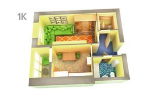 ЖК Life: планування 1-кімнатної квартири 38.28 м²