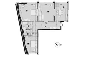 ЖК Liko-Grad Perfect Town: планировка 3-комнатной квартиры 110.64 м²