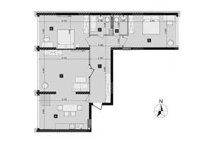 ЖК Liko-Grad Perfect Town: планировка 3-комнатной квартиры 97.9 м²