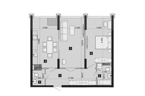 ЖК Liko-Grad Perfect Town: планировка 2-комнатной квартиры 73.94 м²