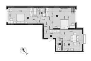 ЖК Liko-Grad Perfect Town: планировка 2-комнатной квартиры 81.62 м²