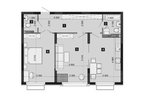 ЖК Liko-Grad Perfect Town: планировка 2-комнатной квартиры 73.46 м²