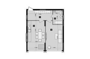 ЖК Liko-Grad Perfect Town: планування 1-кімнатної квартири 51.6 м²