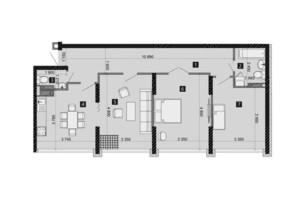 ЖК Liko-Grad Perfect Town: планування 3-кімнатної квартири 83.25 м²