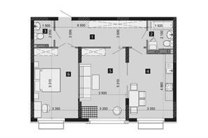ЖК Liko-Grad Perfect Town: планування 2-кімнатної квартири 73.46 м²