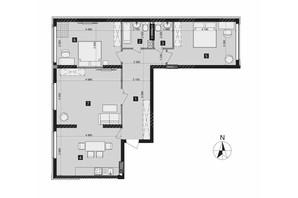 ЖК Liko-Grad Perfect Town: планування 3-кімнатної квартири 97.9 м²