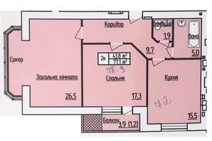 ЖК Лісовий квартал: планування 2-кімнатної квартири 78.9 м²