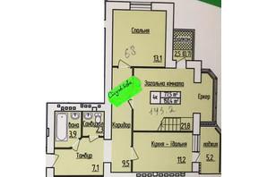 ЖК Лісовий квартал: планування 3-кімнатної квартири 145.2 м²