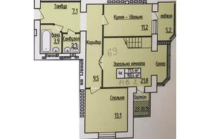 ЖК Лісовий квартал: планування 3-кімнатної квартири 146.2 м²