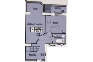 ЖК Лісовий квартал: планування 2-кімнатної квартири 104.9 м²