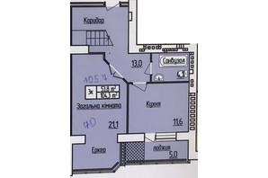 ЖК Лісовий квартал: планування 2-кімнатної квартири 105.7 м²