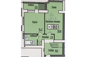 ЖК Лісовий квартал: планування 2-кімнатної квартири 109.2 м²
