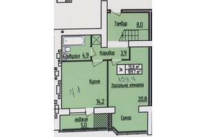 ЖК Лісовий квартал: планування 2-кімнатної квартири 109.7 м²