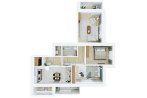 ЖК Living Park «Нова Будова-2»: планування 3-кімнатної квартири 94.4 м²