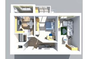 ЖК Living Park «Нова Будова-2»: планування 2-кімнатної квартири 70.7 м²