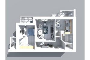 ЖК Living Park «Нова Будова-2»: планування 2-кімнатної квартири 69.7 м²