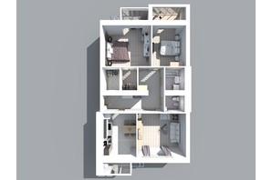 ЖК Living Park «Нова Будова-2»: планування 3-кімнатної квартири 107.3 м²