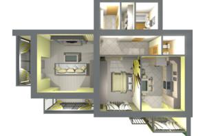 ЖК Living Park «Нова Будова-2»: планування 2-кімнатної квартири 86.1 м²