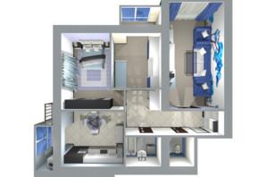 ЖК Living Park «Нова Будова-2»: планування 3-кімнатної квартири 84.5 м²