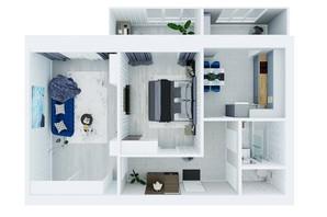 ЖК Living Park «Нова Будова-2»: планування 2-кімнатної квартири 69.9 м²