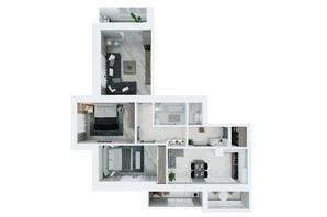 ЖК Living Park «Нова Будова-2»: планування 3-кімнатної квартири 94.8 м²