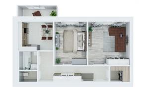 ЖК Living Park «Нова Будова-2»: планування 2-кімнатної квартири 72.6 м²