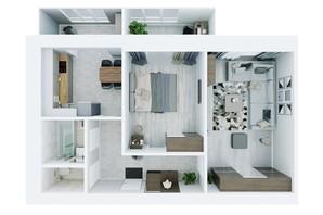 ЖК Living Park «Нова Будова-2»: планування 2-кімнатної квартири 68.5 м²