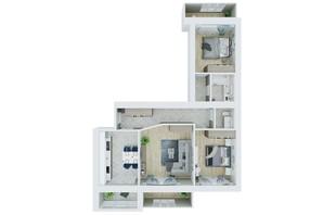 ЖК Living Park «Нова Будова-2»: планування 3-кімнатної квартири 92.2 м²