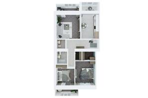 ЖК Living Park «Нова Будова-2»: планування 3-кімнатної квартири 96 м²