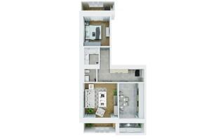 ЖК Living Park «Нова Будова-2»: планування 2-кімнатної квартири 75.9 м²