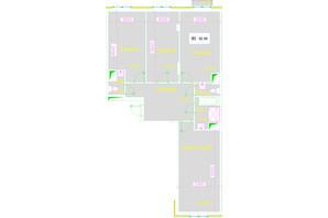 ЖК Love: планування 3-кімнатної квартири 88.28 м²