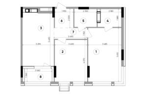 ЖК Lucky Land: планировка 2-комнатной квартиры 72.17 м²