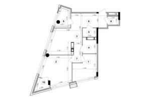 ЖК Lucky Land: планировка 2-комнатной квартиры 66.95 м²