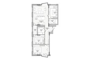 ЖК Lucky Land: планировка 3-комнатной квартиры 107.95 м²