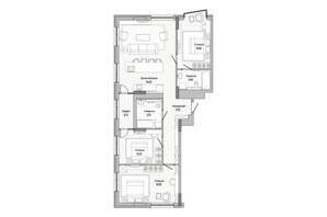 ЖК Lucky Land: планировка 3-комнатной квартиры 106.42 м²