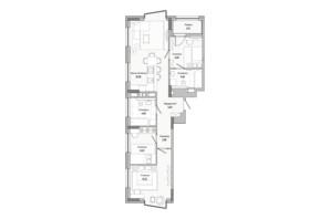 ЖК Lucky Land: планировка 3-комнатной квартиры 75.98 м²