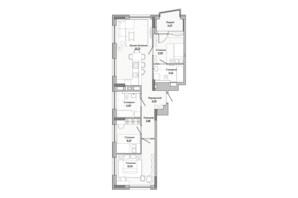 ЖК Lucky Land: планировка 3-комнатной квартиры 81.95 м²
