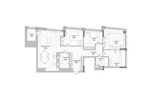ЖК Lucky Land: планировка 4-комнатной квартиры 100.03 м²