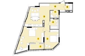 ЖК Lucky Land: планування 2-кімнатної квартири 82.17 м²