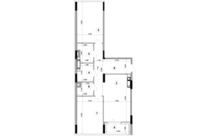 ЖК Lucky Land: планування 2-кімнатної квартири 81.99 м²