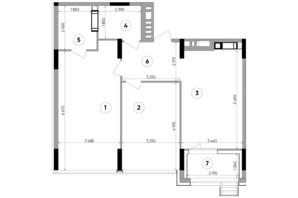 ЖК Lucky Land: планування 2-кімнатної квартири 79.21 м²