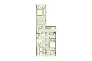 ЖК Luxberry lakes & forest: планування 2-кімнатної квартири 89 м²